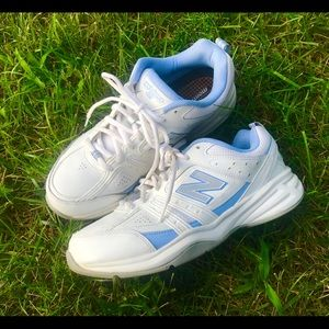 pastel blue and white vintage new balance shoes!
